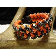 Foliage Green & Neon Orange Jawbone Paracord Survival Bracelet By Bostonred2010