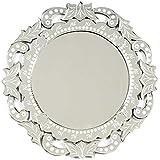 IndianShelf Handmade Vintage Decorative New Design Glass Wood And Iron Round Floral Frame Etched Venetian Mirror