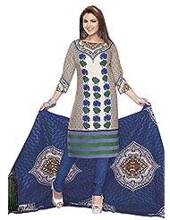 AASRI Party Wear Pure Cotton 3 Piece Unstitched Salwar Suit 519