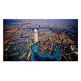 Dubai Malls Vinyl Home Decor PVC Wall Sticker ( 91 Cms X 61 Cms)