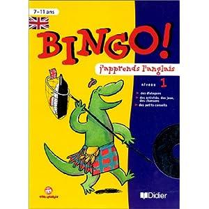 Bingo : J'apprends l'anglais, niveau 1, CM - 7-11 ans (1 cahier d'activités + 1 CD audio)