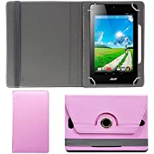"""Hello Zone Exclusive 360° Rotating 7"""" Inch Flip Case Cover Book Cover For Asus K012 -Baby Pink"""