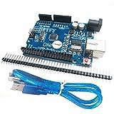 HiLetgo NEWバーション UNO R3 ATmega328P CH340 ミニUSBケーブル付属 Arduinoと互換性 [並行輸入品]
