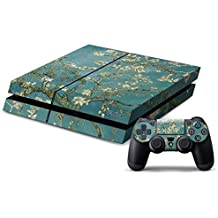 Elton Almond Trees Theme 3M Skin Sticker Cover For PS4 Console And Controllers