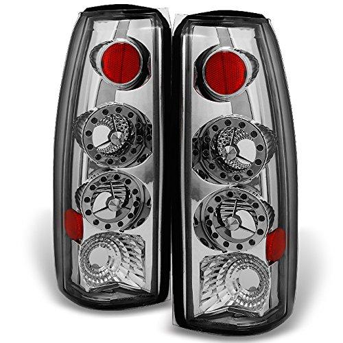 Chevy C/K 1500 Models & C10 GMC Sierra Yukon Pickup Truck LED Chrome Tail Light Relacement Pair Set