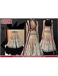 Chaayakar Women's Party Wear Net Lehenga Saree - B019JX24SE