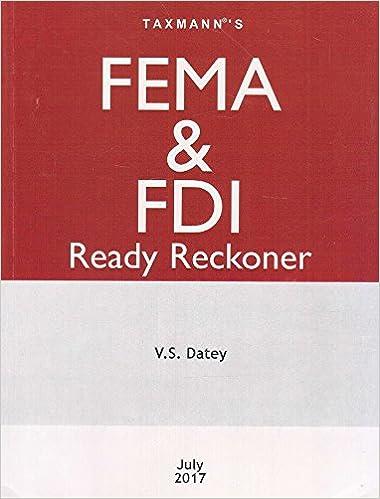 FEMA & FDI Ready Reckoner