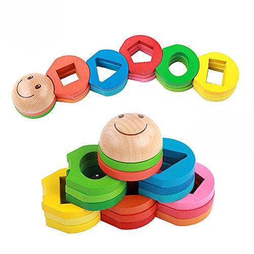 Rolimate Educational Preschool Wooden Shape Color ...