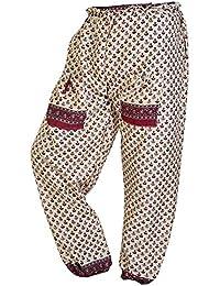 Women Casual Wide Leg Long Pants Bohemian Yoga Dance Palazzo Trousers - B071KPR46D