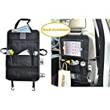 All One Tech Car Auto Front Or Back Seat Organizer Holder Multi-pocket Travel Storage Bag Auto Car Back Seat Cover...