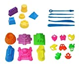 Mukool Sand Mold Set 25pcs Sand Molding Toy Deluxe Castle Mold Activity Set for Sand Art Compatible with Kinetic Sand (Sand Not Included )