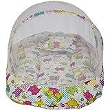 Amardeep Baby Mattress With Mosquito Net Tiger Elephant Blue XL Size 90*55*6 Cms