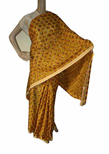 Beautiful RUDA Designer Phulkari Embroidered Saree-JS1104