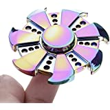 "Berry Collection ""OFFER"" 1 Selfie Flash Light Free With Fidget Spinner Worth Of 299* Best Quality Amazing Dazzle Mirror Wheel Shape Colorful Cool Fidget Hand Spinner Game Toys For Autism Anxiety Stress Relief Spinner Game Toy For Adult/ Kids"