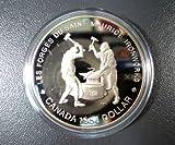 Scarce Brilliant Uncirculated 1988 Canadian Commemorative Silver Dollar -- Saint Maurice Ironworks
