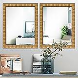 Elegant Arts & Frames Antique Gold Wall Decorative 18 Inch X 24 Inch Wooden Mirror 18 Inch X 24 Inch