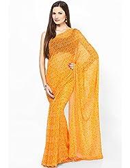 Rajasthani Sarees Ethnicwear Chiffon Bandhej Printed Saree For Women (RS28)