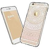 IPhone 6 Case, IPhone 6 Clear Case Pink Henna, ESR Totem Series Hybrid Case TPU Bumper +Hard PC Back Cover Protective...