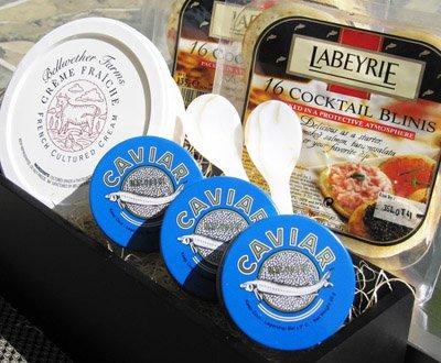 Kolikof caviar sampler gift basket (serves 8-10) kolikof caviar.