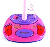 Super Star Princess Children's Toy Stand Up Microphone Play Set w/ Built In MP3 Player, Speaker, Adjustable Height