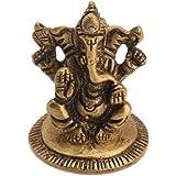 Elephant Headed Lord Ganesha Worshipping Decorative Idol By Vyomshop BH05525