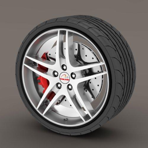 Kabis Car Rimblades Black Color Alloy Wheel Rim Protector Tyres Tire Guard Rubber Moulding