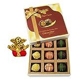 Chocholik Belgium Chocolates - 9pc Scrumptious White Collection Of Chocolates With Small Ganesha Idol - Diwali...