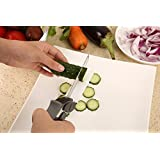 Deziredeal Clever Cutter 2-in-1 Food Chopper Slicer Multifunction Kitchen Vegetable Stainless Steel Scissors Cutter-Replace...