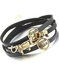 Hot And Bold Charming Gold Plated Multilayered Elephant & Good Luck Chram Bangles & Bracelets For Women & Men....