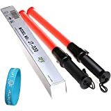 ZFE Traffic Safety Light Baton Warning LED Light Road Safety Control Outdoor Pack Of 2Pcs--Come With Gift Of ZFE...