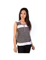 Jaipur RagaExclusive Designer Handblock Black Cotton Kurti Black-White Kurti