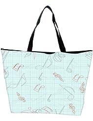 Snoogg Green Background Music Designer Waterproof Bag Made Of High Strength Nylon