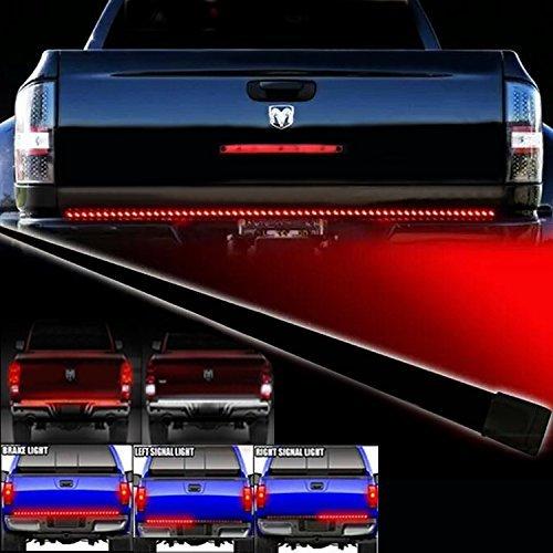 Opar Waterproof 60″ Red/white Tailgate LED Strip Light Bar Truck Reverse Brake Turn Signal Tail for Ford GMC Chevy Dodge Toyota Nissan Honda Truck SUV 4×4 Dodge Ram