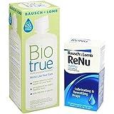 Bausch & Lomb Biotrue Multi-purpose Solution 300ml & Renu Rewetting Drops By Bookmylenses