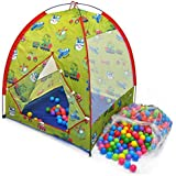 "Transportation Play Tent W/ Safety Meshing For Child Visibility & 300 ""Phthalate Free"" Crush Proof Non Toxic Non..."
