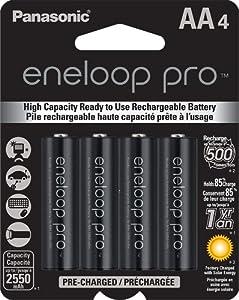 Amazon.com: Panasonic BK-3HCCA4BA Eneloop Pro AA High