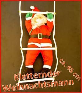 Weihnachtsmann, kletternd auf Leiter ca. 45 cm: Amazon.de