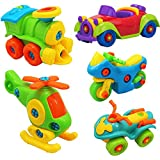 OCATO Complete Set Of 5 Assemble Toy Assemble Vehicle Play Car Toy Set Multi Mix Educational Toy