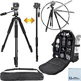 72 Inch Elite Series Professional Heavy Duty Convertible Camera Tripod/Monopod + Professional DSLR Digital Camera...