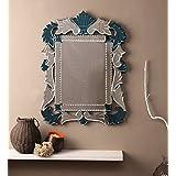 Venetian Design Leaf Design Wall Mirror