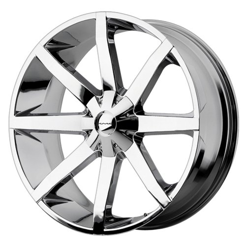 KMC Wheels KM651 Slide Triple Chrome Plated Wheel (22×9.5″/5×139.7, 150mm, +38mm offset)
