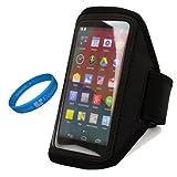 SumacLife Black Workout Running Sports Gym Armband Case Pouch - B00H4P5JOG