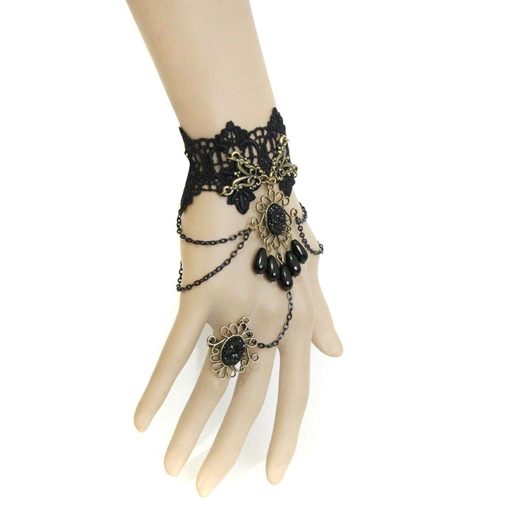 Amazon: Gothic Black Lace Brac...