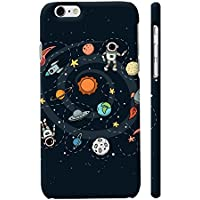 Colorpur Space Printed Designer Mobile Phone Case Back Cover For Apple IPhone 6 Plus / 6s Plus (Matte Black)
