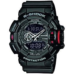 Casio GA-400-1BER - Reloj de pulsera hombre, Resina, color Negro