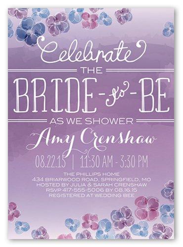 Bridal shower invitations jennifer mccoy blaske watercolor blooms bridal shower invitations filmwisefo