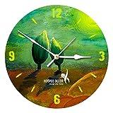 Hoopoe Decor Lotus Flower Bud Painting Trendy Designer Wall Clock