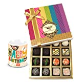 Luxury Collection Of White And Dark Chocolate Box With Birthday Mug - Chocholik Belgium Chocolates