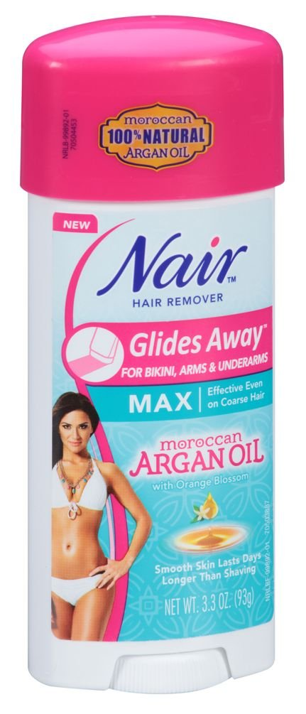 Nair Hair Remover Glides Away Max, Moroccan Argan Oil, for Bikini, Arms & Underarms