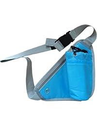 Sports Waist Bag Bottle Holding Running Bag Pouch, Blue